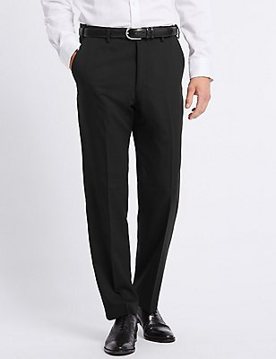 Black Regular Fit Trousers, BLACK, catlanding