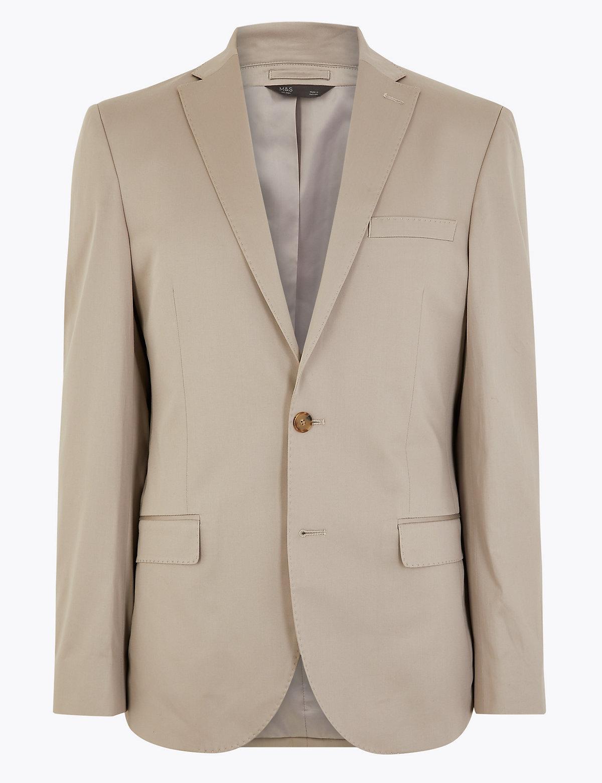 Пиджак классический однобортный на 2 пуговицы с добавлением эластичного волокна