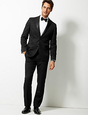 Black Tailored Fit Jacket, BLACK, catlanding