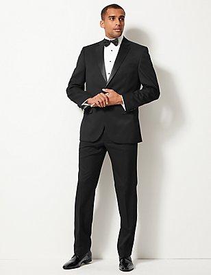Big & Tall - Zwarte pantalon met normale pasvorm, ZWART, catlanding