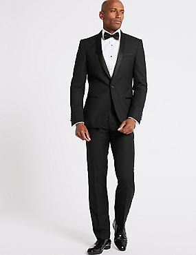 Black Slim Fit Dinner Jacket, BLACK, catlanding