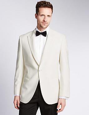 Regular Fit Jacket, WHITE, catlanding