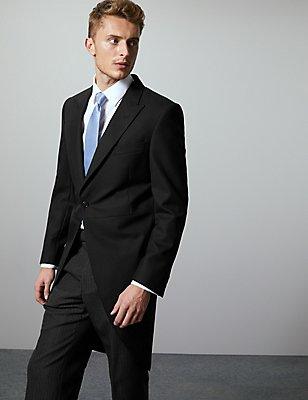 Black Regular Fit Wool Blend Jacket, BLACK, catlanding
