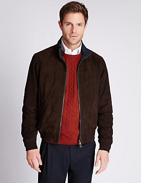 Suede Reversible Bomber Jacket
