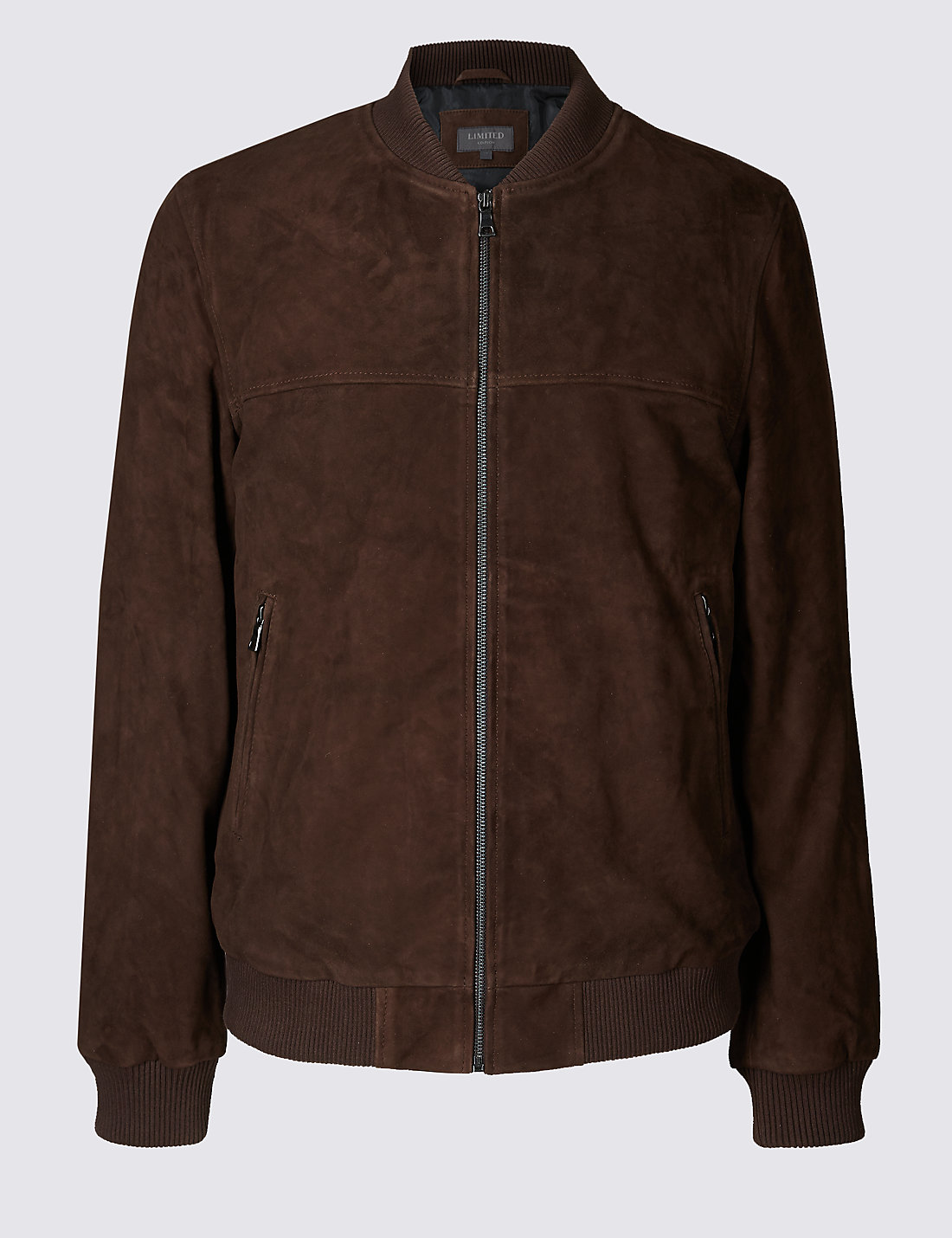 Suede Baseball Bomber Jacket | M&S