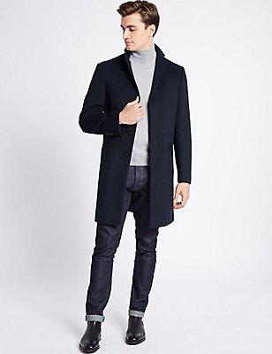 Mantel mit Reverskragen, MARINEBLAU, catlanding