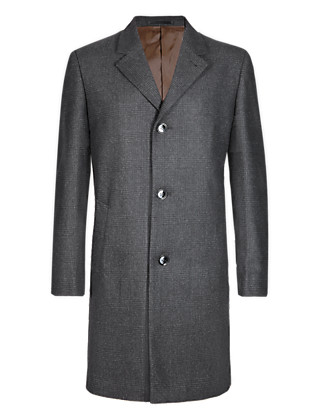 Prince of Wales Checked Coat with Wool Clothing