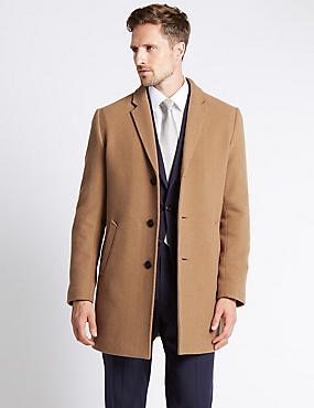 Single Breasted Revere Coat with Buttonsafe™, CAMEL, catlanding