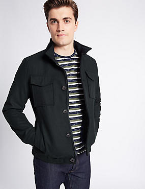 Twin Pockets Jacket, NAVY, catlanding