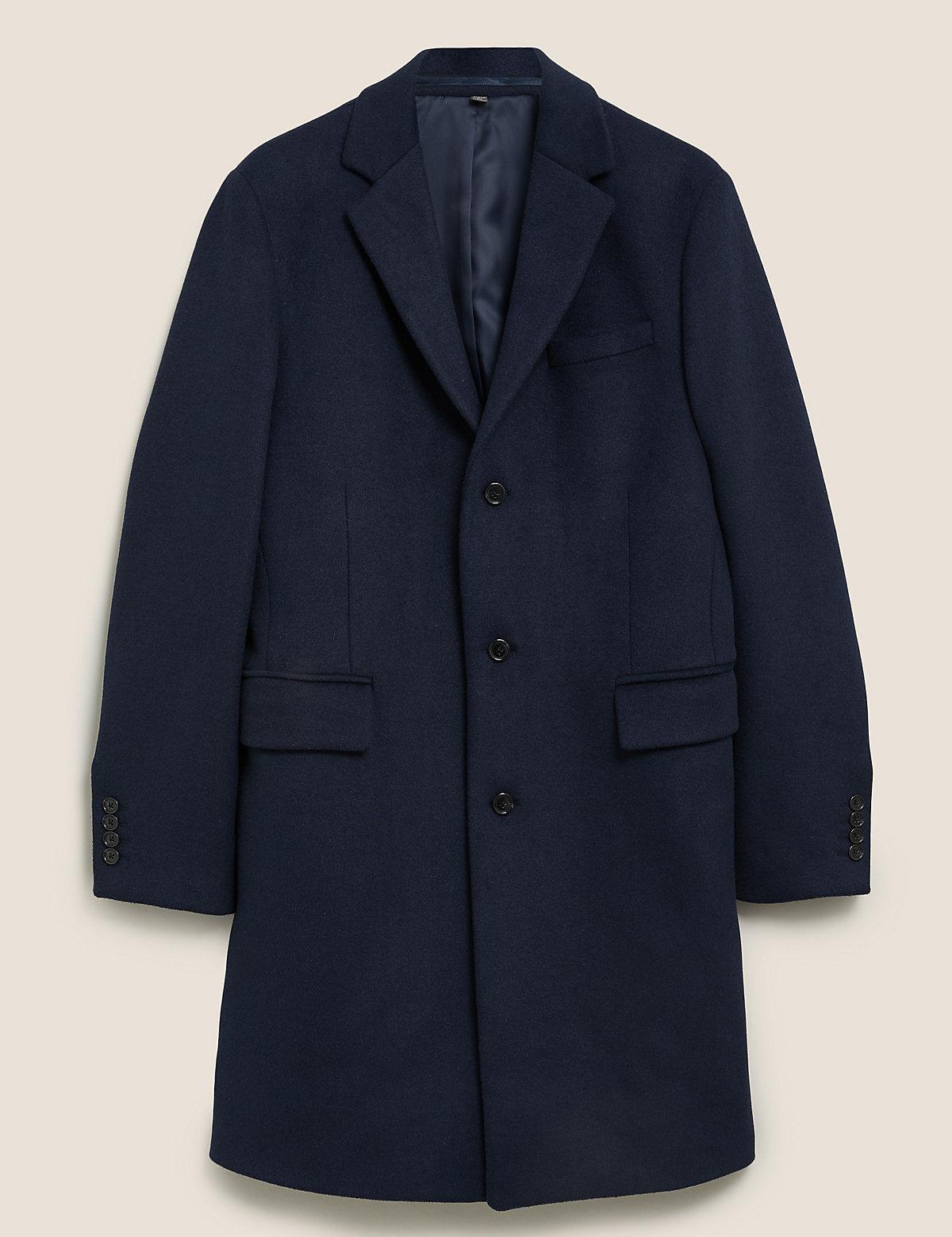 Мужское пальто с добавлением шерсти