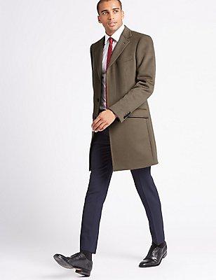 Manteau 100% cachemire à revers, TAUPE, catlanding