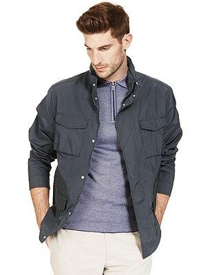 Lightweight Jacket with a Concealed Hood & Stormwear™, DARK NAVY, catlanding