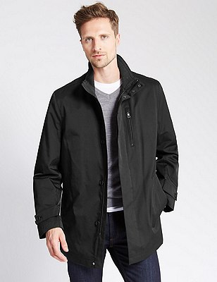 Contemporary Cotton Rich Mac with Stormwear™, BLACK, catlanding
