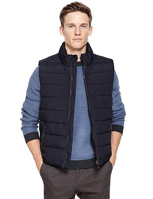 Quilted Gilet with Stormwear™, NAVY, catlanding