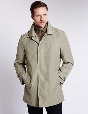 Classic Stormwear™ Mac with a Removable Double Collar, STONE, catlanding