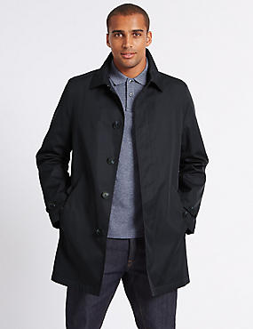 Hooded Mac with Stormwear™, NAVY, catlanding