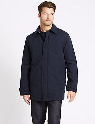 Collared Neck Mac with Stormwear™, NAVY, catlanding