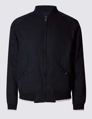 Текстурная куртка бомбер из чистого хлопка Limited Edition T166214Q