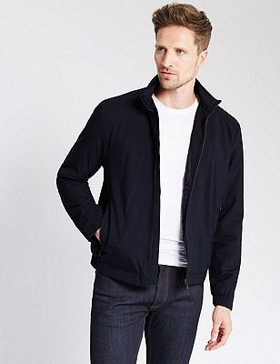 Contemporary Harrington Bomber Jacket with Thinsulate™ & Stormwear™, NAVY, catlanding