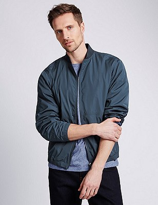 Casual Bomber Jacket with Stormwear™, SLATE BLUE, catlanding