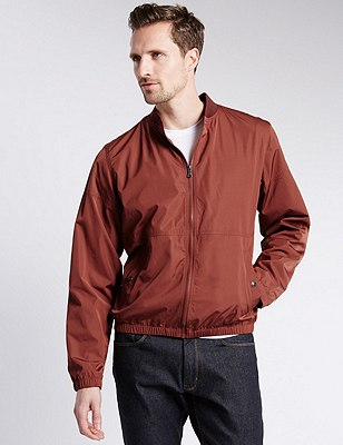 Casual Bomber Jacket with Stormwear™, RED, catlanding
