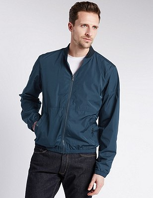 Casual Bomber Jacket with Stormwear™, NAVY, catlanding
