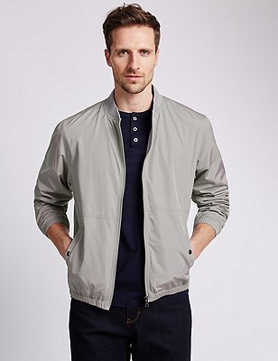 Casual Bomber Jacket with Stormwear™, GREY, catlanding