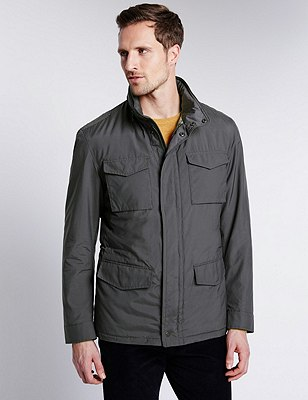 4 Pockets Jacket with Stormwear™, GREY, catlanding