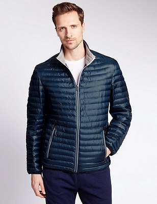 Lightweight Quilted Jacket with Stormwear™, NAVY, catlanding