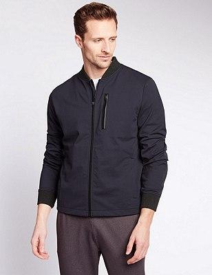 Lightweight Jacket with Natural Stretch Fabric & Reflective Trim, INDIGO, catlanding