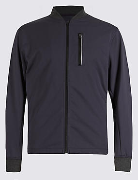 Lightweight Jacket with Natural Stretch Fabric & Reflective Trim