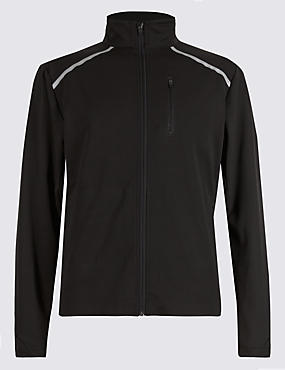 Lightweight Jacket with Stretch Comfort Fabric & Reflective Trim