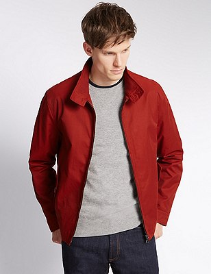 Cotton Rich Harrington with Stormwear™, RED, catlanding
