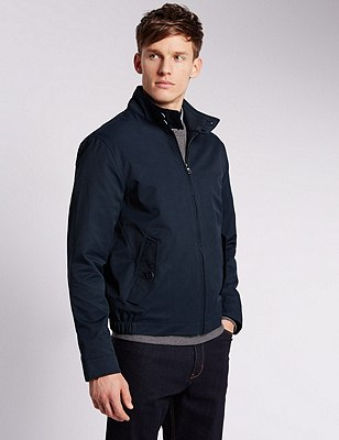Cotton Rich Harrington with Stormwear™, NAVY, catlanding