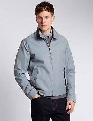 Cotton Rich Harrington with Stormwear™, PALE BLUE, catlanding