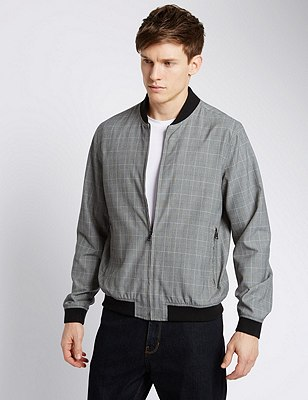 Smart Baseball Jacket, GREY MIX, catlanding