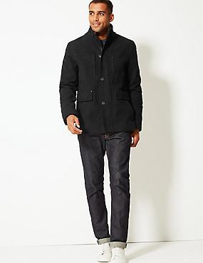 Modern Moleskin Jacket, BLACK, catlanding