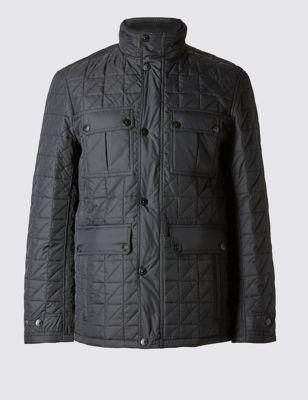 Стёганая куртка Stormwear™ с высоким воротником M&S Collection T166456M