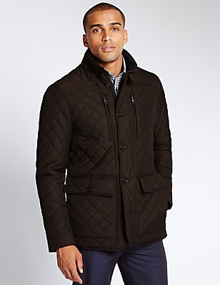Quilted Jacket with Stormwear™, CHOCOLATE, catlanding