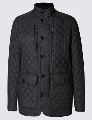Приталенная стёганая куртка Stormwear™ с утеплителем M&S Collection T166463M