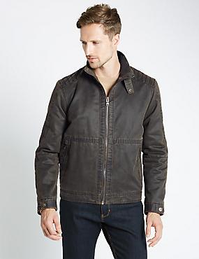 Harrington Jacket, BROWN, catlanding