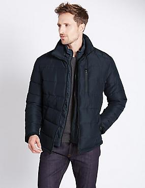 Wadded Parka with Stormwear™, NAVY, catlanding