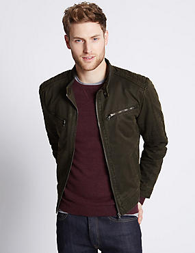 Pigment Biker Jacket , BROWN, catlanding