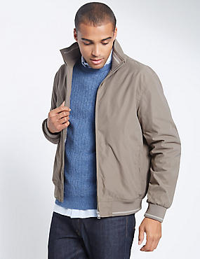 Bomber Jacket with Stormwear™, NUTMEG, catlanding