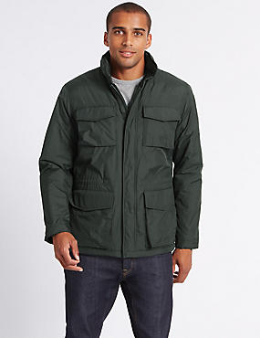 Fleece Lined Jacket with Stormwear™, KHAKI, catlanding