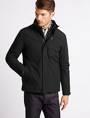 Fleece Lined Jacket with Stormwear™, BLACK, catlanding