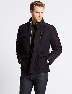 Quilted Padded Jacket with Stormwear™, DARK NAVY, catlanding
