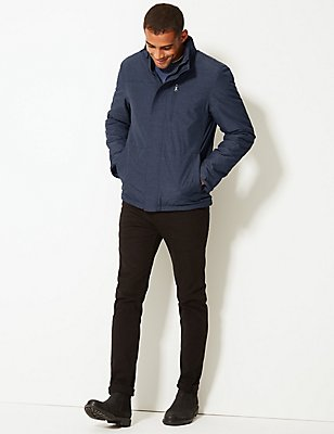 Fleece Lined Jacket with Stormwear™, DARK INDIGO, catlanding
