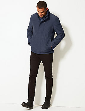 Textured Jacket with Stormwear™, DARK INDIGO, catlanding