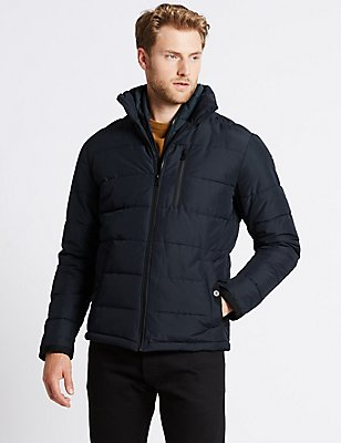 Padded Jacket with with Stormwear™, NAVY, catlanding